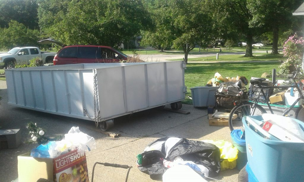 Dad's Dumpsters 10 yard roll-off dumpster, cheap dumpster rental cleveland