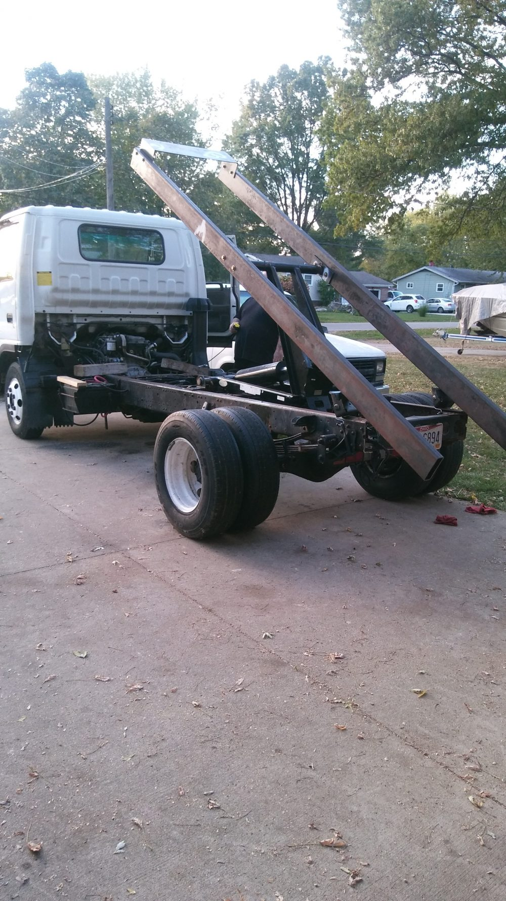 Dad's Dumpsters LLC mini roll-off truck, dumpster rental cleveland